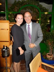 Ольга Евенко с президентом Федерации FEDELE Angel  Piñuela Pérez